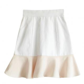 Victoria Beckham Two-Tone Mini Skirt