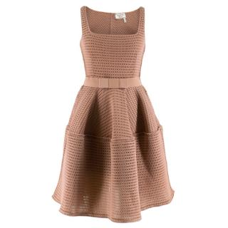 Lanvin Nude A-Line Perforated Dress