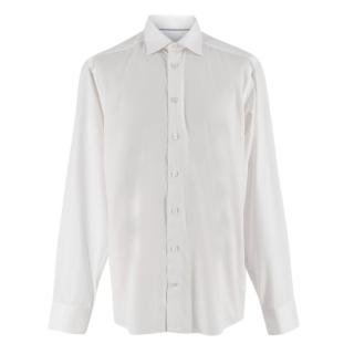 Eton White Cotton Button-Down Shirt