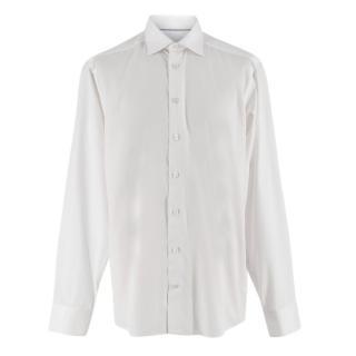 Eton White Cotton Button-Down Shirt