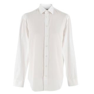 Armani Collezioni Modern Fit White Cotton Shirt