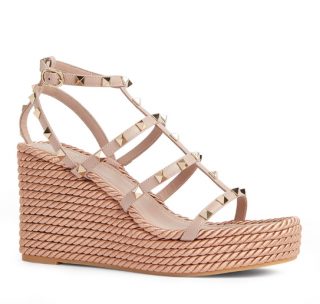 Valentino Rockstud Wedge Sandals