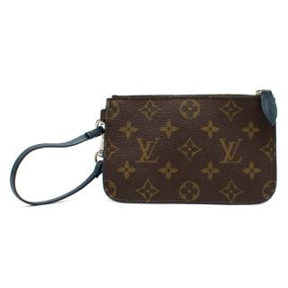 Louis Vuitton Mini Pochette Wristlet in Monogram/Teal