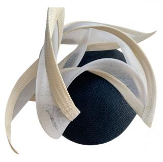 Philip Treacy Blue & Cream Occasion Hat