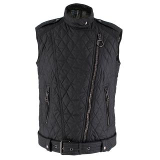 Belstaff Barclay Diamond Black Quilted Gilet