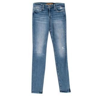 Joes Jeans Blue Distressed Skinny Jeans