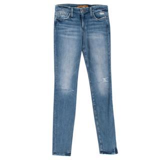 Joes Jeans Blue Distressed Skinny Jeans