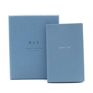 Smythson of Bond Street Genius Small Blue Notebook