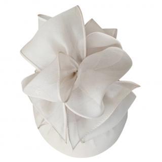 Rachel Trevor-Morgan Ecru Bow Detail Pill Box Hat