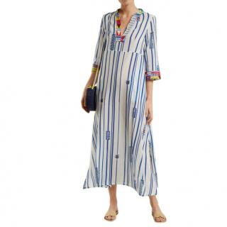 Le Sirenuse Positano Giada Afrika striped cotton dress