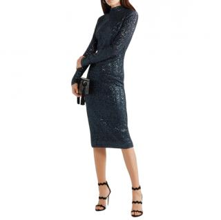 Rebecca Vallance Andree sequined Lurex midi dress