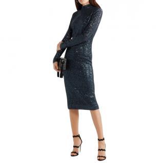 Rebecca Vallance Andree sequined Lurex midi dress