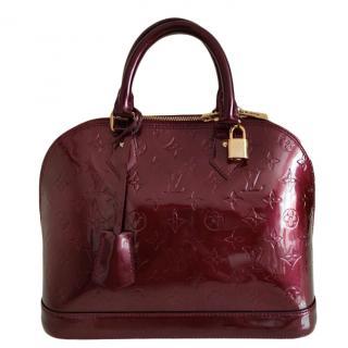 Louis Vuitton dark red vernis leather Alma PM Monogram PM bag