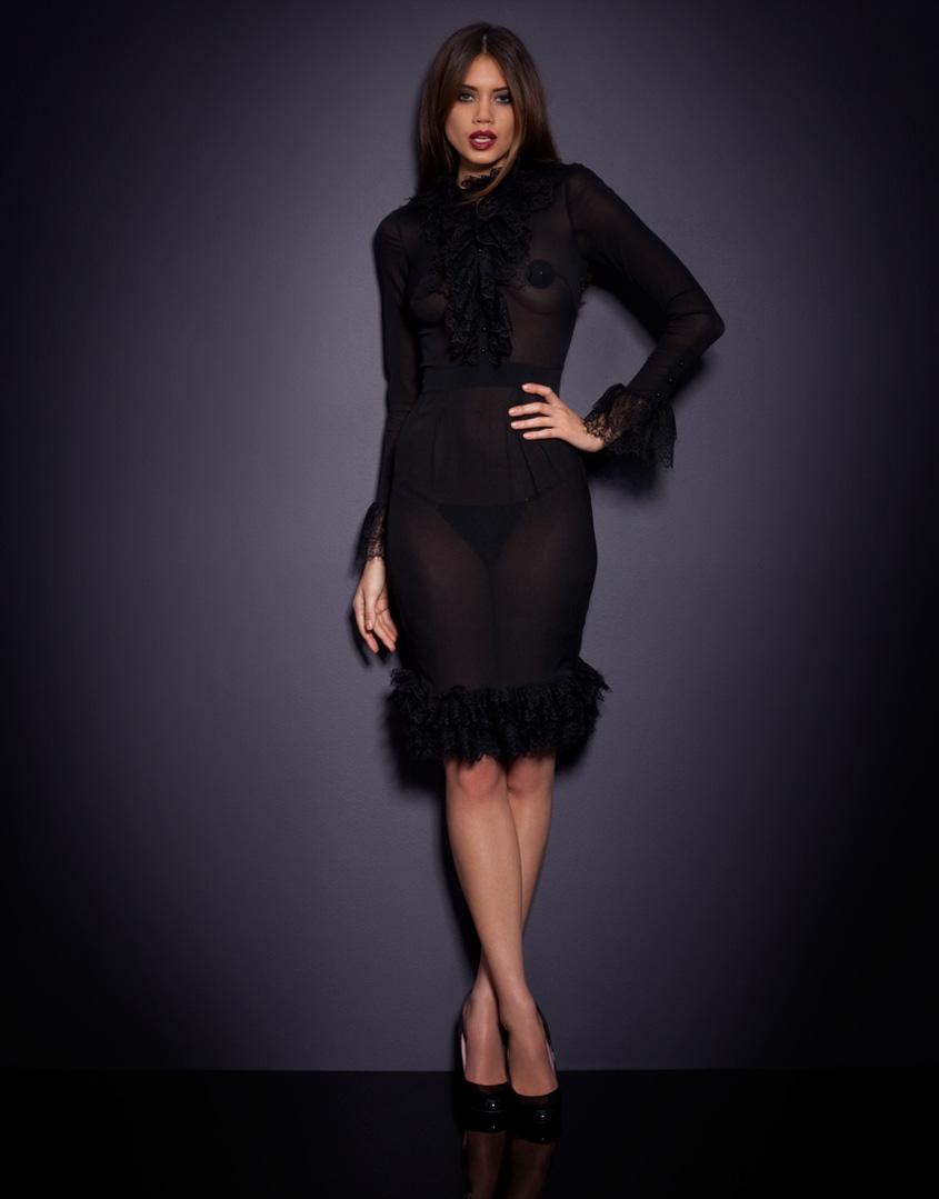 Agent Provocateur Morrigan Dress Uk Size 12 To 14 Black Silk  30df253d0
