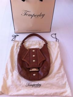 Temperley brown tan leather handbag New With Tags