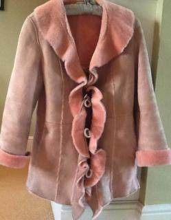 Deanna beautiful Italian girl's shearling coat