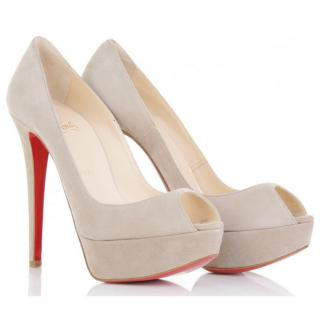 Christian Louboutin Taupe Tirolo heels