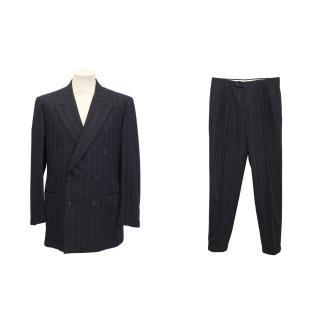 Yves Saint Laurent navy pin stripe suit