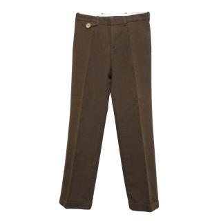 Marc Jacobs brown cotton and wool blend trousers