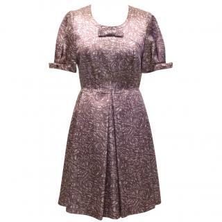 Asprey Silk Rose Printed Dress