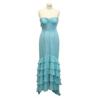 Icthys chiffon straplees evening dress