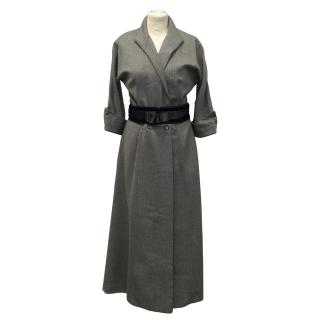New Chloe charbon black and white robe coat