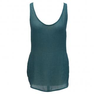 Emanuel Ungaro teal silk vest top