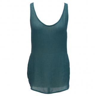 Emanuel Ungaro teal silk vest top