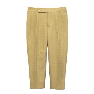 Marni mustard yellow cropped trousers