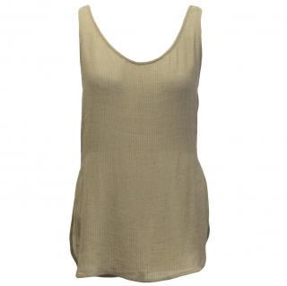 Emanuel Ungaro light khaki silk vest top