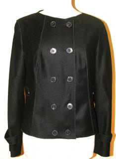 BOSS smooth fine black wool jacket, size 14 Unworn