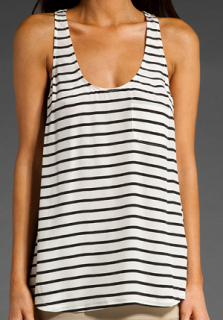 Beautiful Joie French Striped Silk Longline Vest