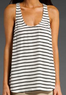 Beautiful Joie French Striped Silk Longline Vest