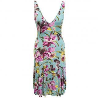 Blumarine embellished floral dress