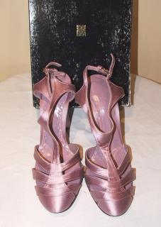 BIBA lilac satin shoes, size 40 NEW
