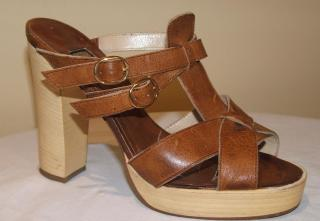 BIBA tan leather sandals, size 36