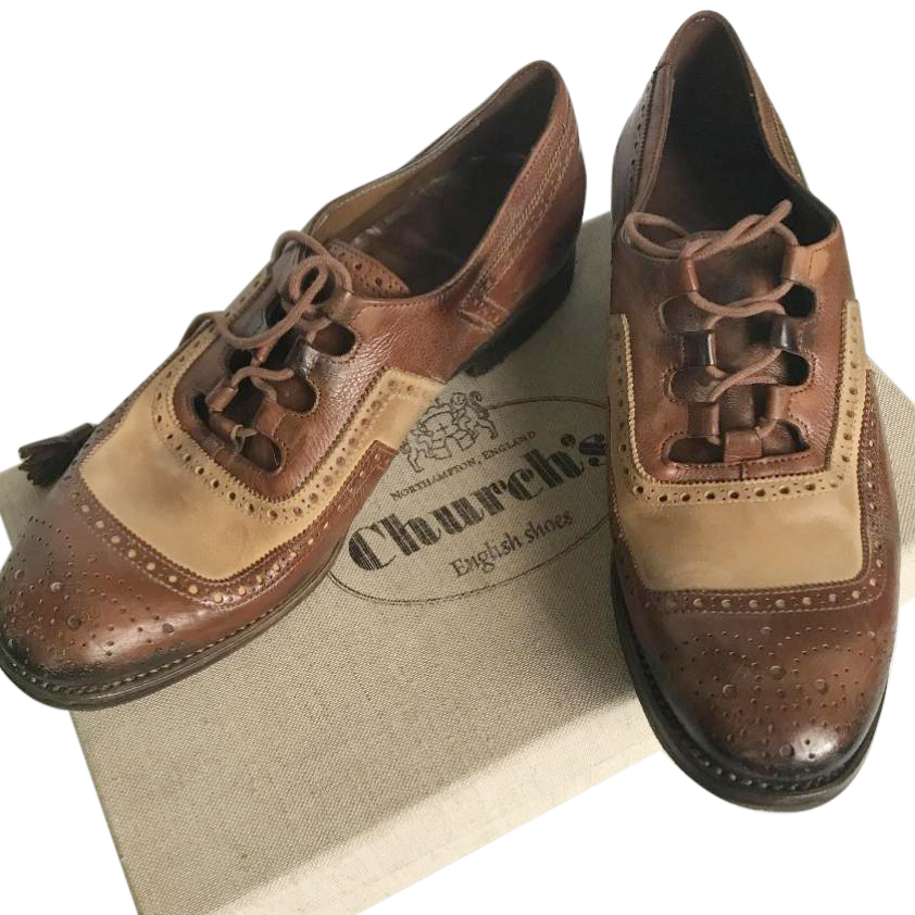 Church's Two-Tone Leather Shanghai Brogues