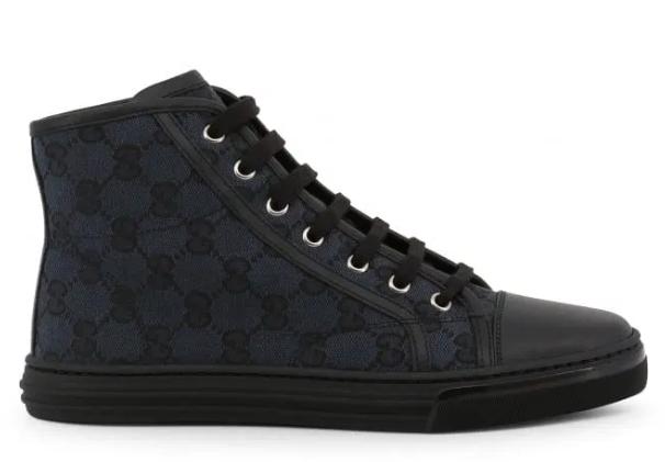 Gucci Black Monogram Hightop
