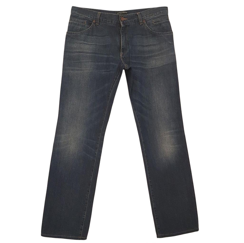 Dolce & Gabbana Grey Straight Jeans