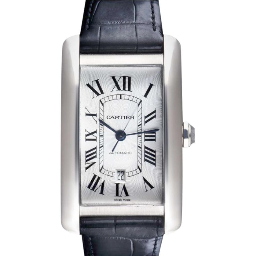 Cartier Americaine XL 31.5mm White Gold Tank Watch
