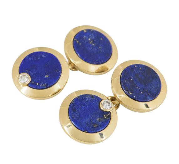 Cartier Blue Cufflinks with Diamond