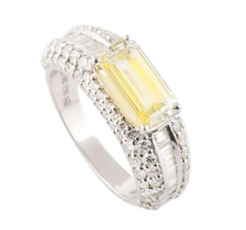 Bespoke Yellow Diamond White Gold Ring