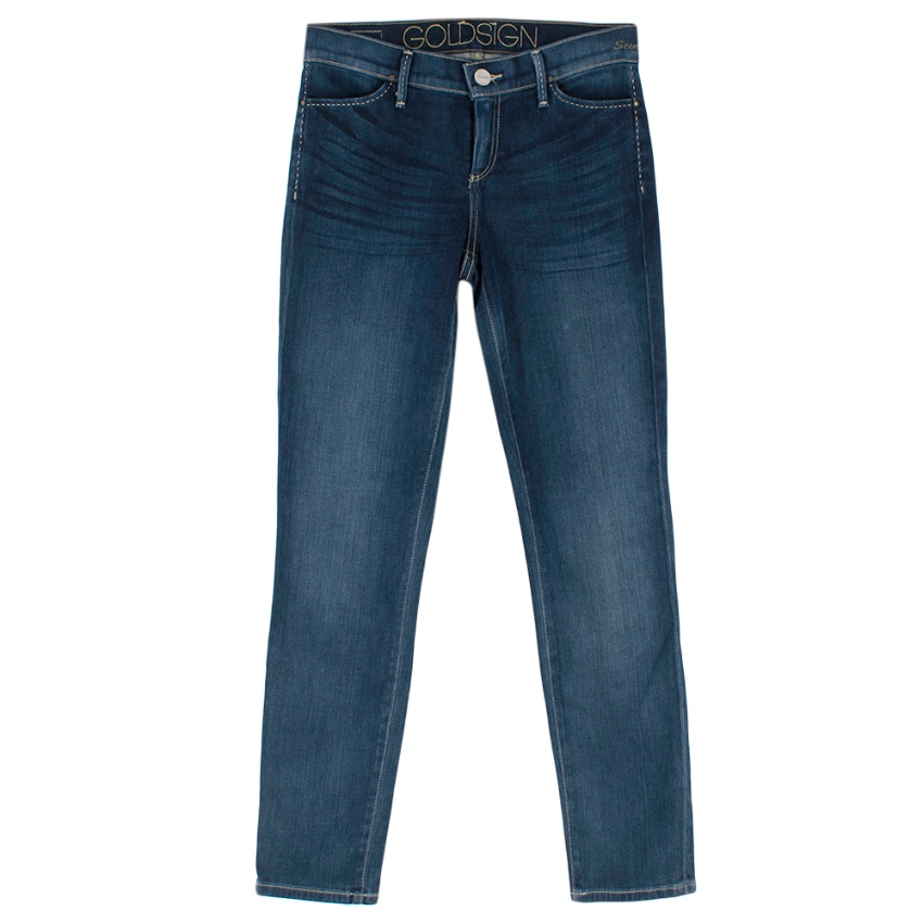Goldsign Blue Stretch Skinny Denim Jeans