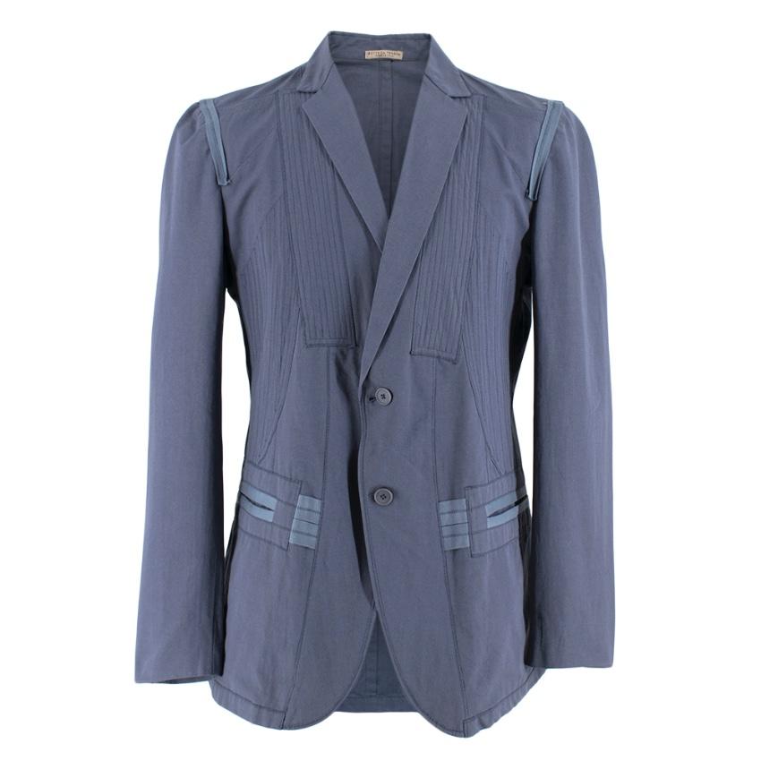 Bottega Veneta Blue Light-Weight Single-Breasted Jacket