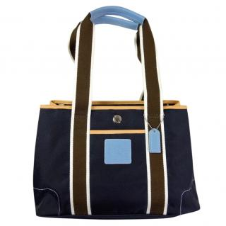 Coach Canvas Colourblock Tote Bag