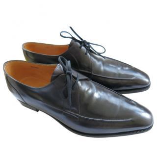 John Lobb Black Hand Made Leather Oxfords