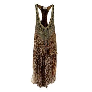 Camilla Silk Embellished Sleeveless Top