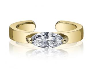 Anita Ko 18-karat Yellow Gold Ear Cuff with Marquise Diamond