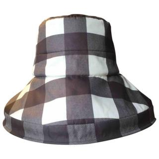 Dolce & Gabbana Black & White Check Bucket Hat