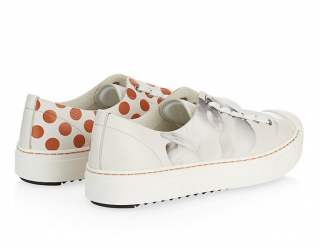 Fendi Flynn Polka Dot Flower Leather Sneakers